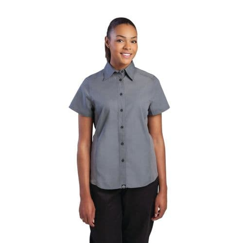 Chef Works Womens Grey Cool Vent Chef Shirt L